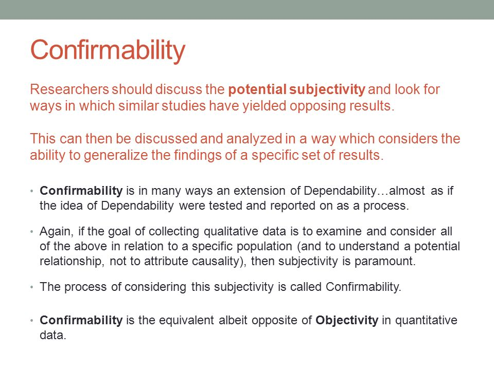 confirmability in qualitative research pdf