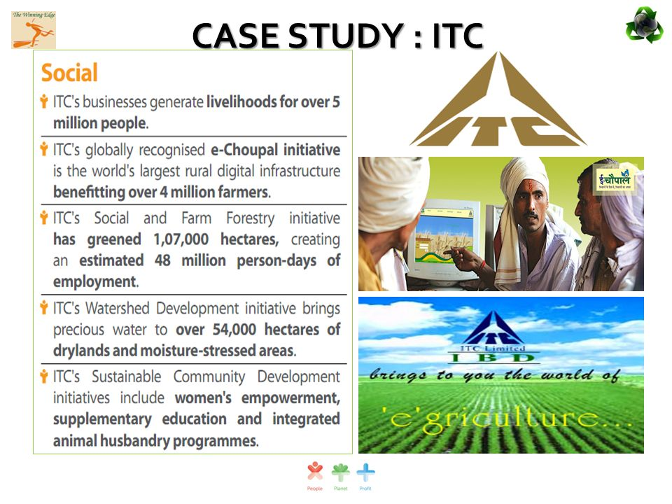 itc e choupal case study Free essay: 1 the ethical issues in this case may be considered to revolve around rights—the rights of the poor farmers and their families, the rights of.