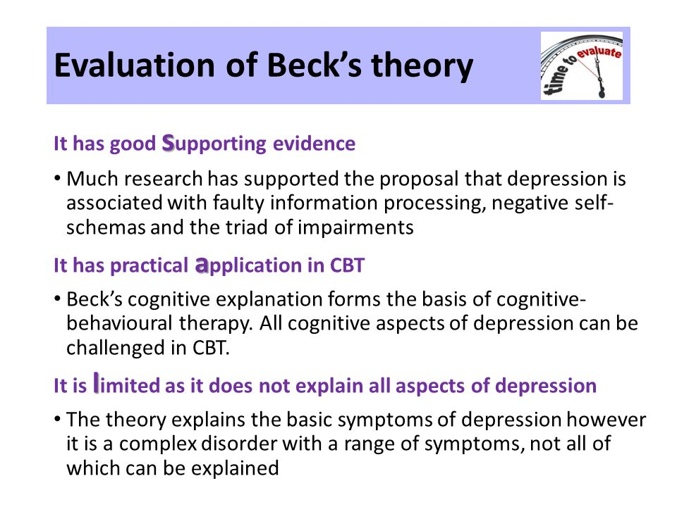 becks theory of postpartum depression Using the grounded theory method, a substantive theory of postpartum depression was developed data.