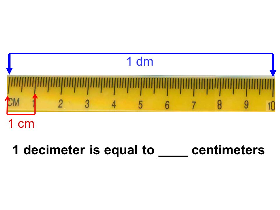 1 decimeter is equal to ____ centimeters