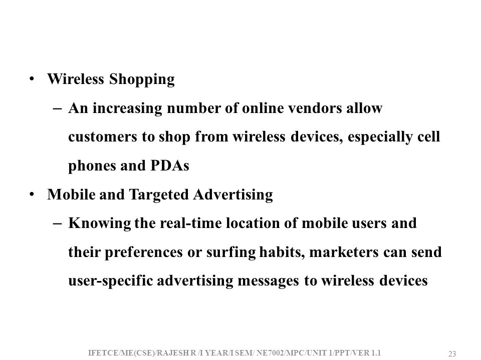 Mobile and Targeted Advertising