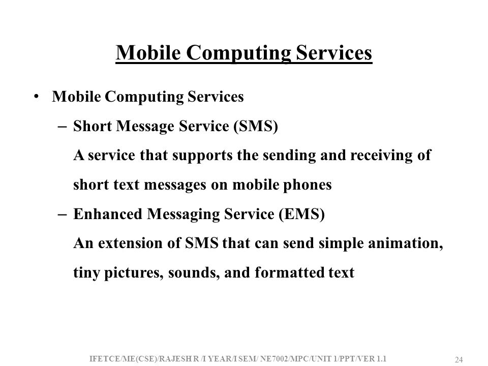 Mobile Computing Services