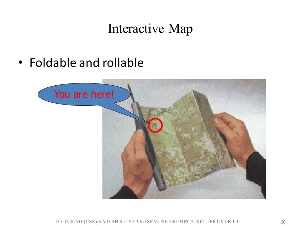 Interactive Map Foldable and rollable You are here! 60