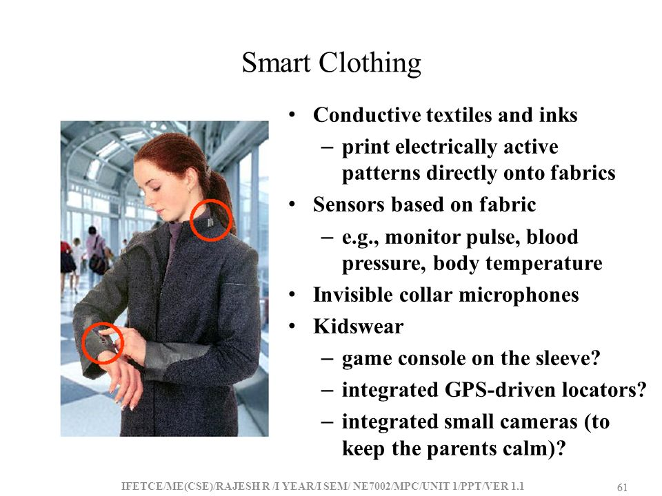 Smart Clothing Conductive textiles and inks