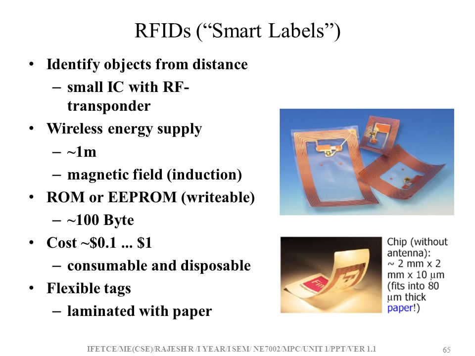 RFIDs ( Smart Labels )