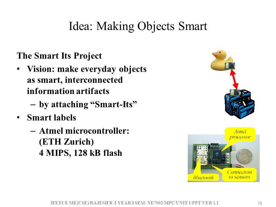 Idea: Making Objects Smart