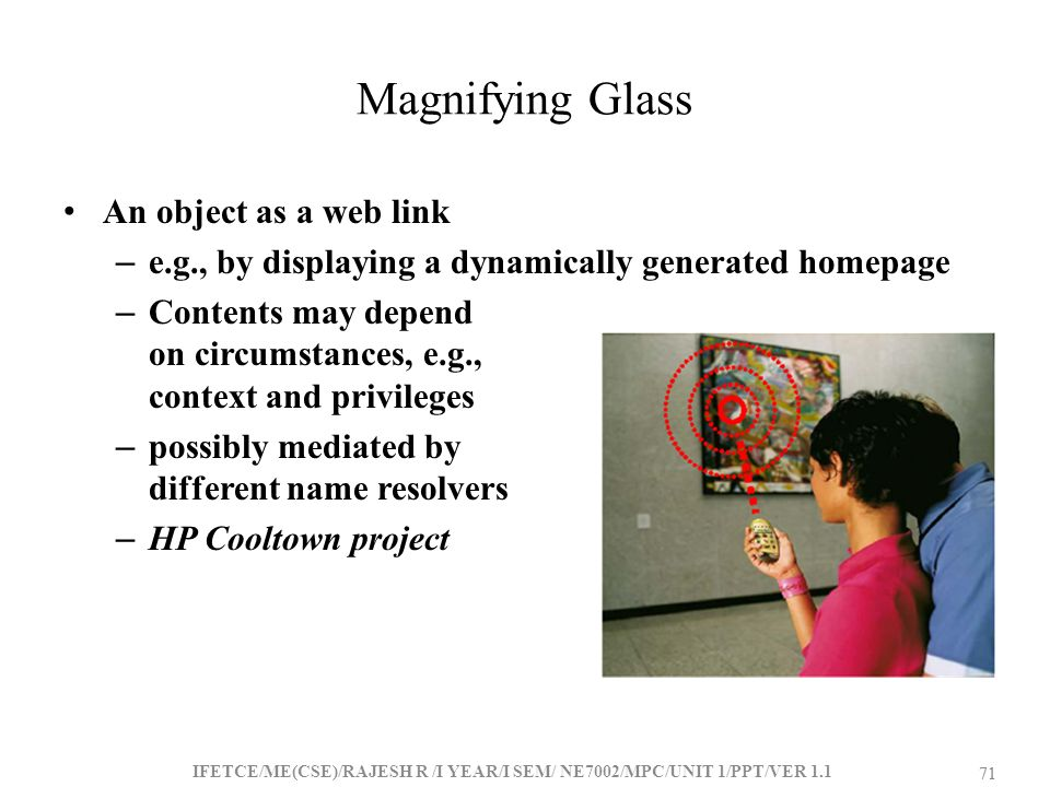 Magnifying Glass An object as a web link