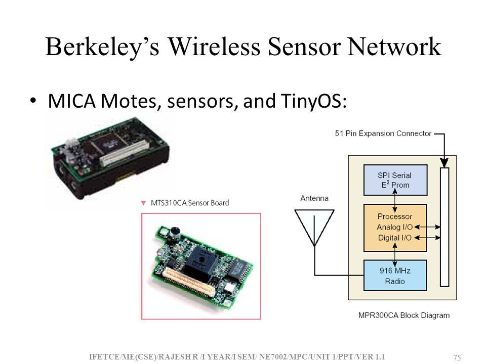 Berkeley's Wireless Sensor Network