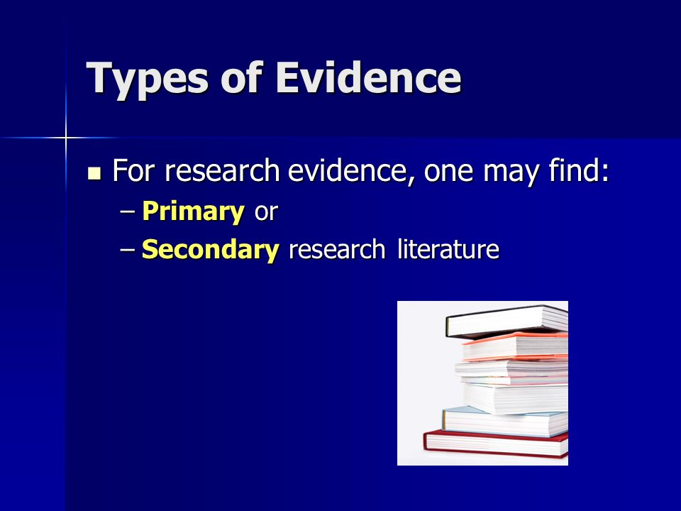 primary and secondary evidence pdf