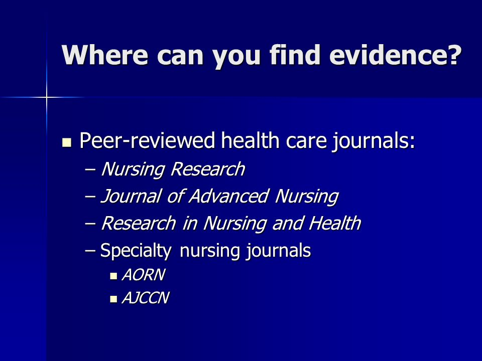 peer reviewed research articles in nursing Nursing is an peer-reviewed journal for the journal nursing & care is one among the best nursing journals communicating nursing research, nursing journals.