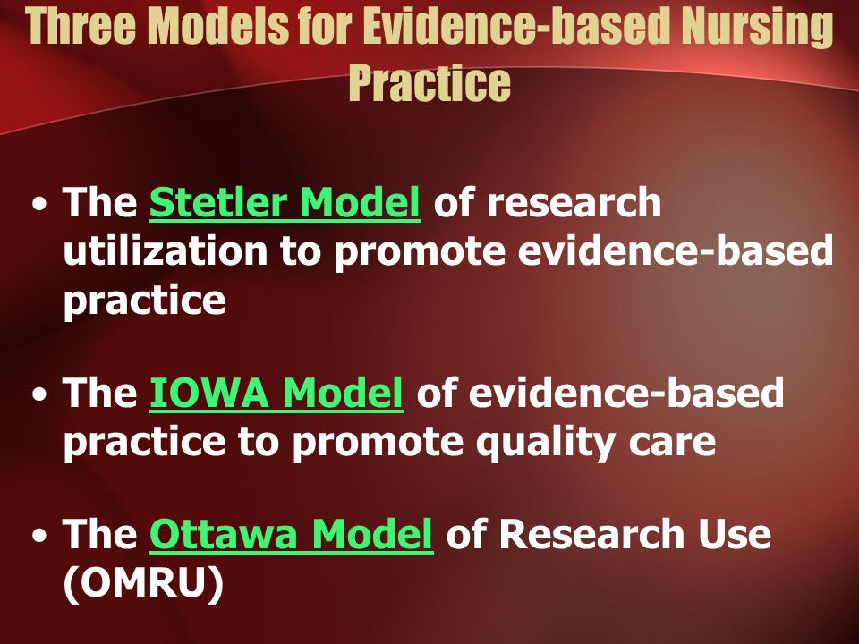 evidence based practice in nursing pdf