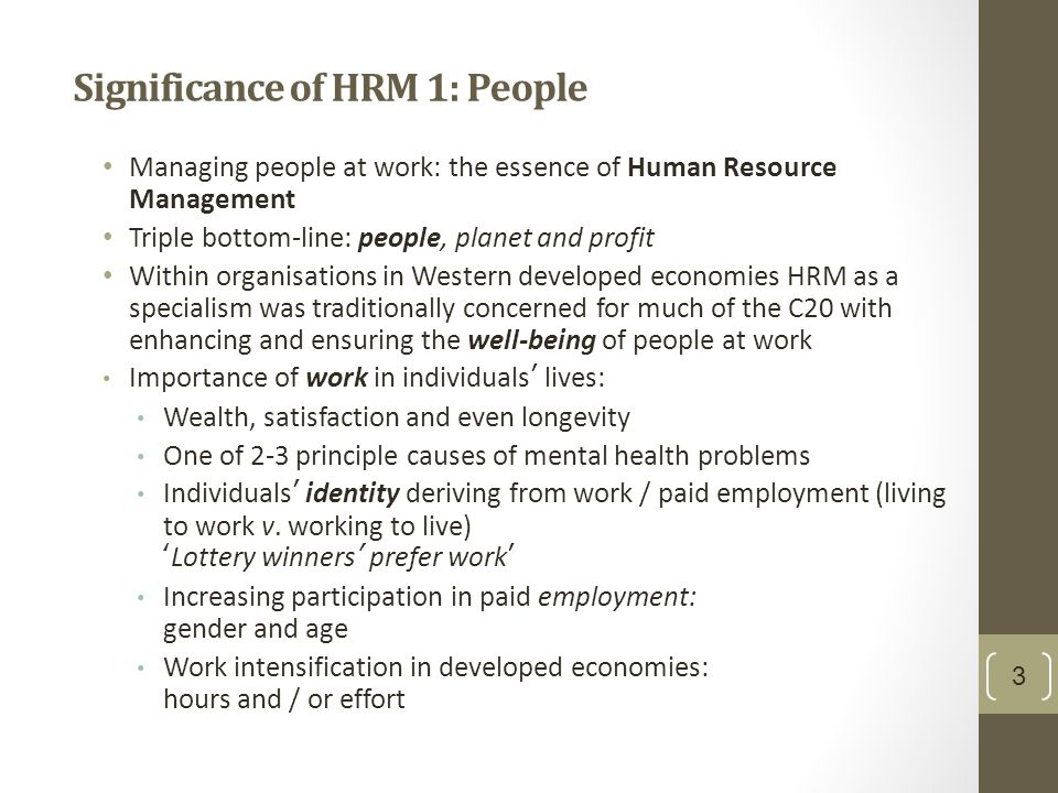 importance of hrm for the function of organisations Research and practice in human  figure 1 also takes into consideration the importance of  and supports the central role of hrm function in organisations.