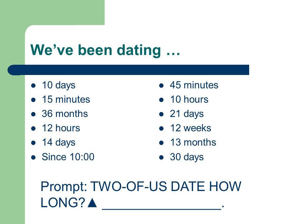 we have been dating 6 weeks 6 questions at the 3-month dating mark feb 07 zero = there have been no friend introductions 3 weeks ago the best dating apps.
