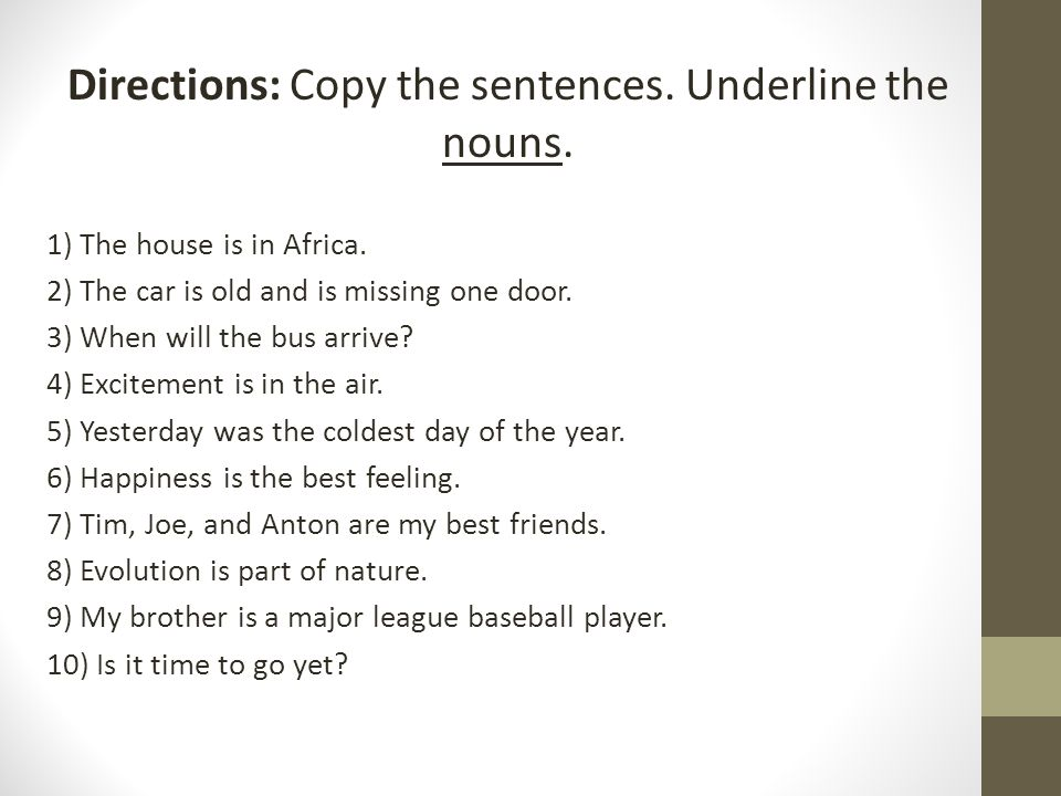 2 Person Smart Car >> Directions: Underline the prepositions in the following sentences. - ppt video online download