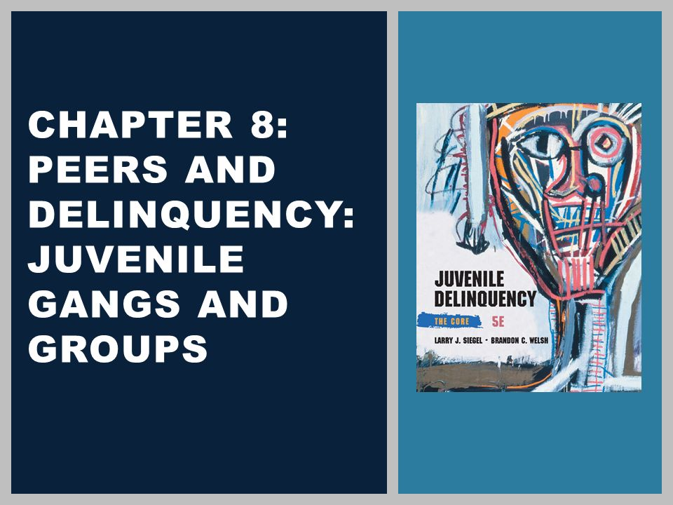 gangs and juvenile delinquency in the The relationship between delinquency and drug use explore explore by interests the use or selling of drugs and its connection with juvenile delinquency and gangs.