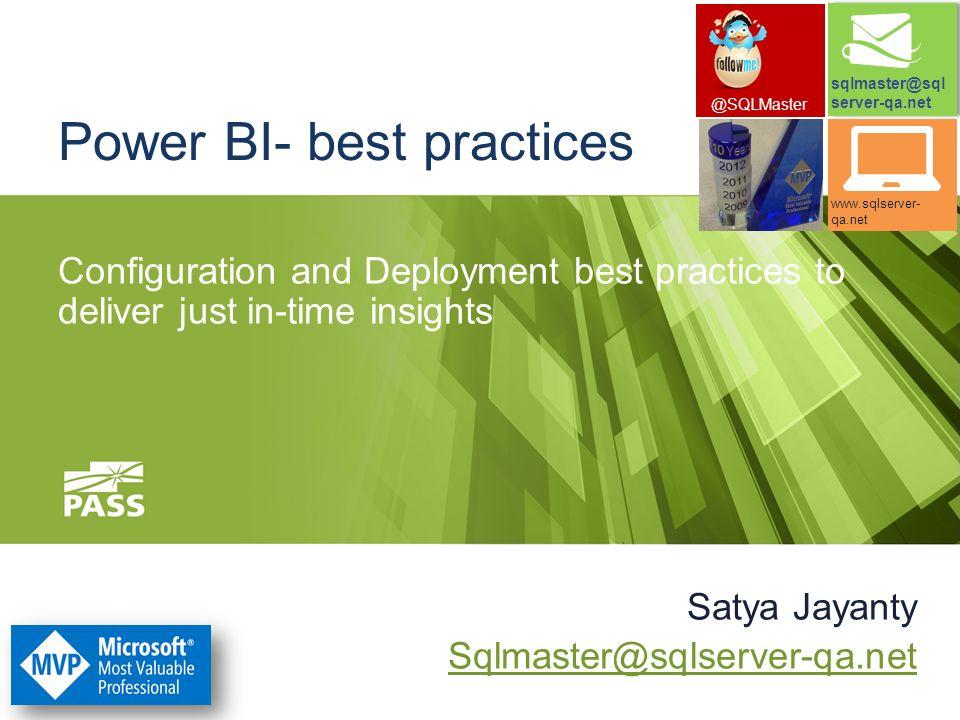 Power BI- best practices