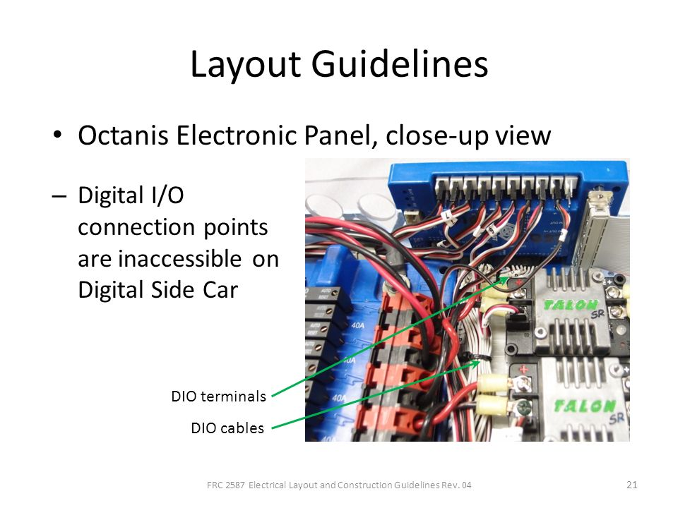FRC+2587+Electrical+Layout+and+Construction+Guidelines+Rev.+04 electrical layout and construction techniques for frc ppt download