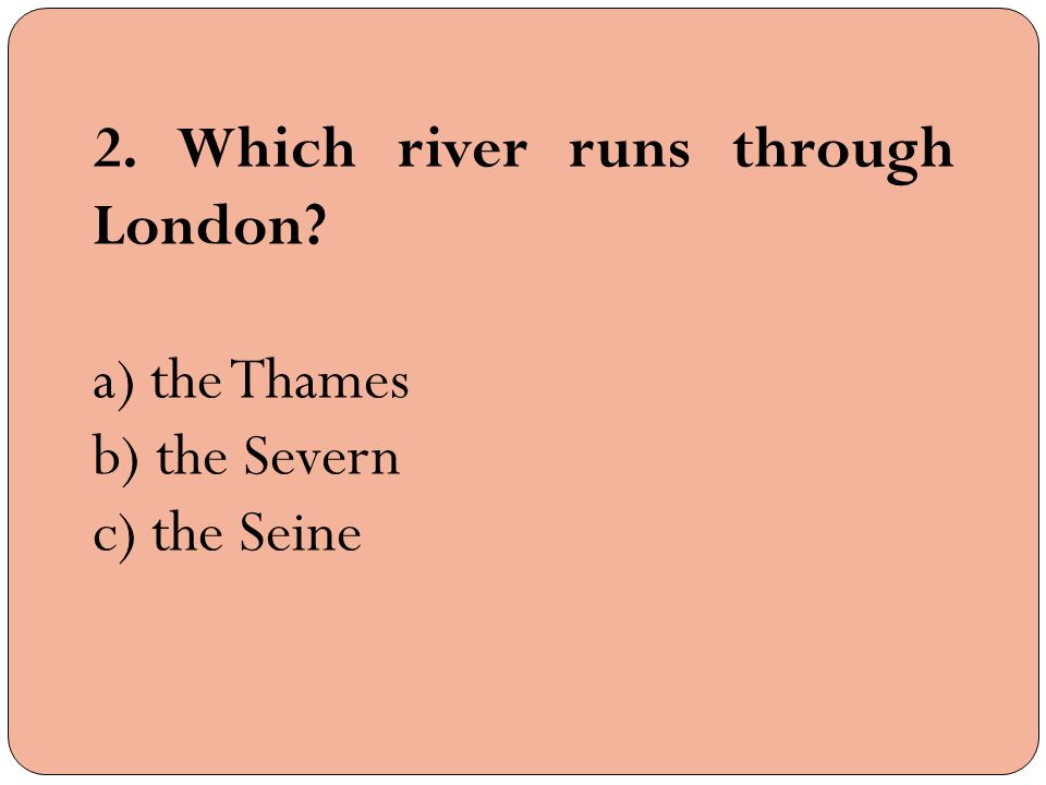 river runs through it study questions Geography questions including how and why have the political ward boundaries changed and what is the meaning of cultural hearth go the area along the tiber was a good place to settle because it had villages near the river runs through greenwhich, england.