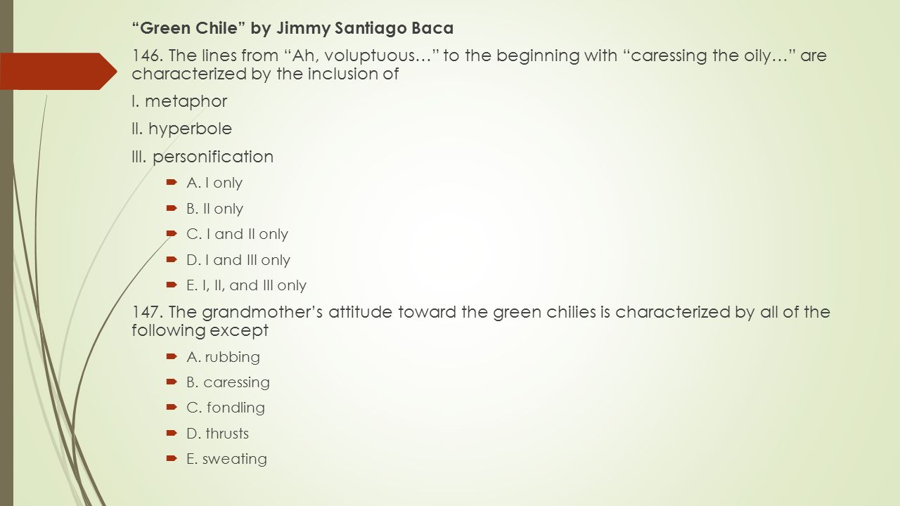 Green Chile by Jimmy Santiago Baca