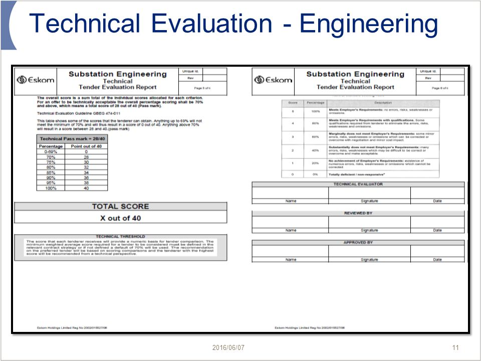 Technical Assessment Template Formal Presentation Evaluation Form