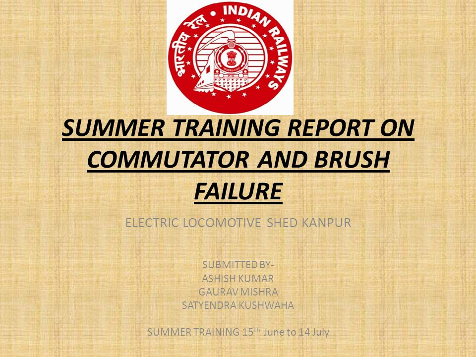 Summer Training Report On Commutator And Brush Failure  Ppt Video