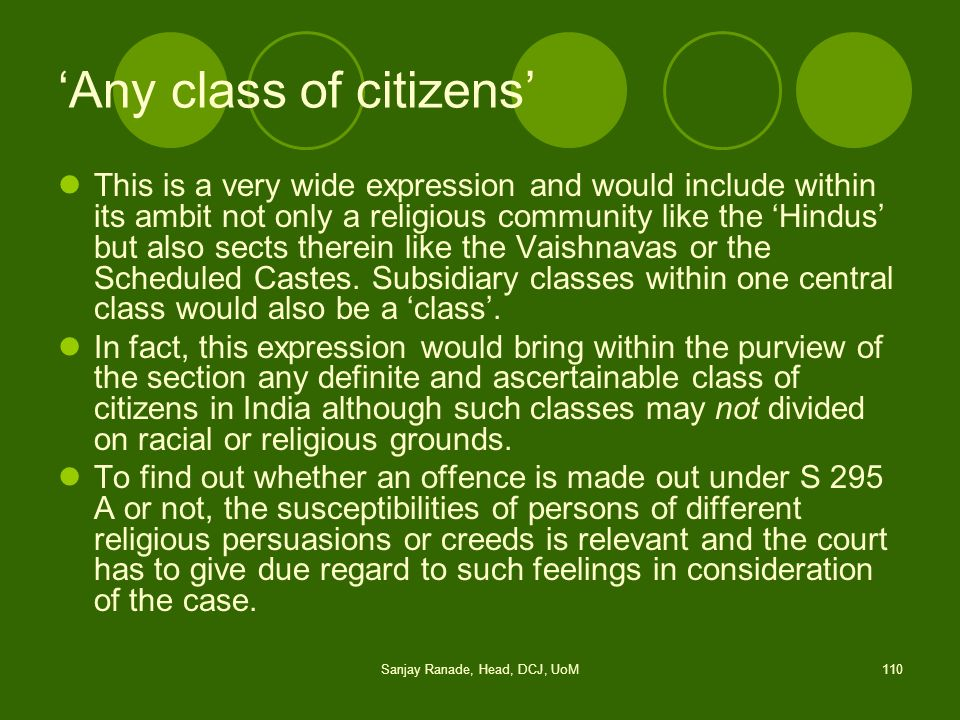 'Any class of citizens'