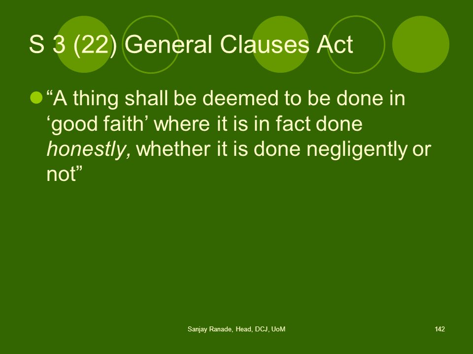 S 3 (22) General Clauses Act