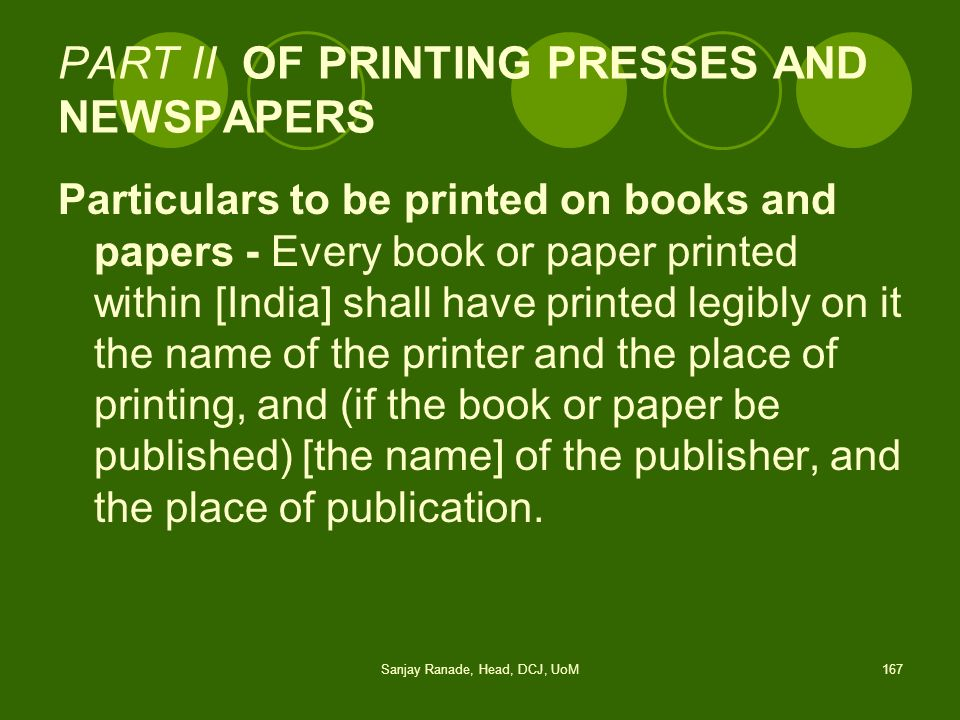 PART II OF PRINTING PRESSES AND NEWSPAPERS