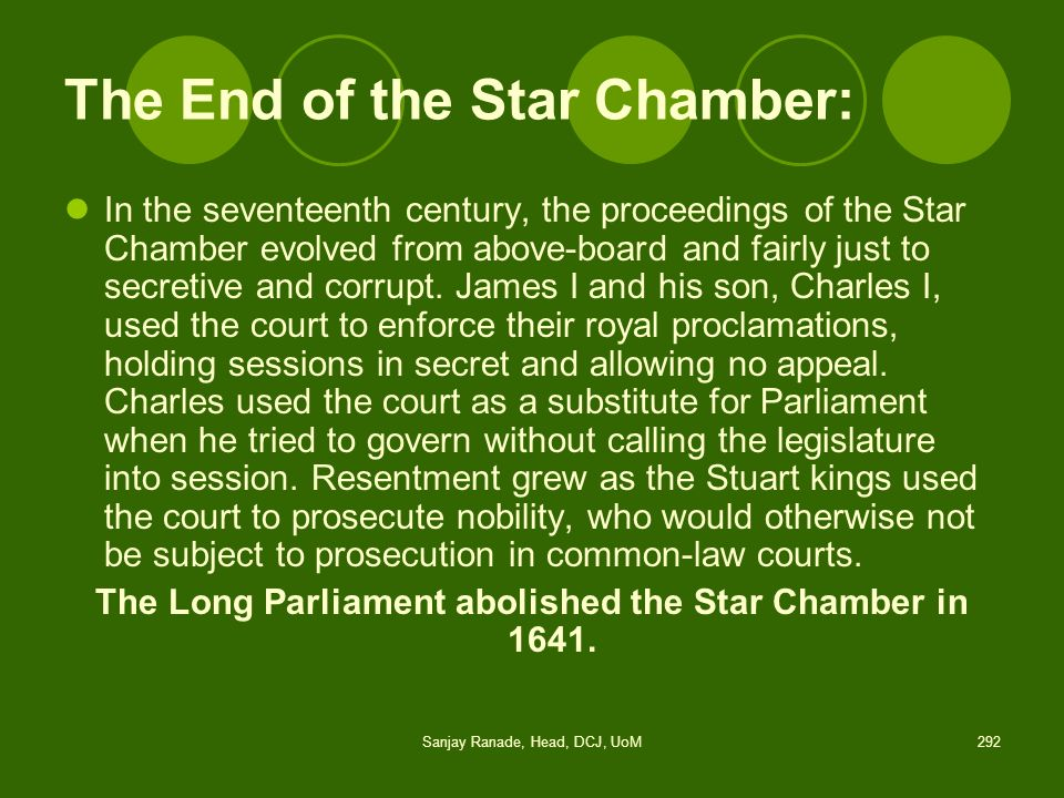 The End of the Star Chamber: