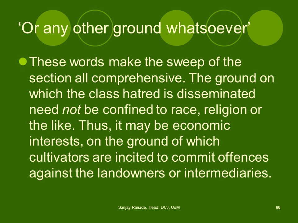 'Or any other ground whatsoever'