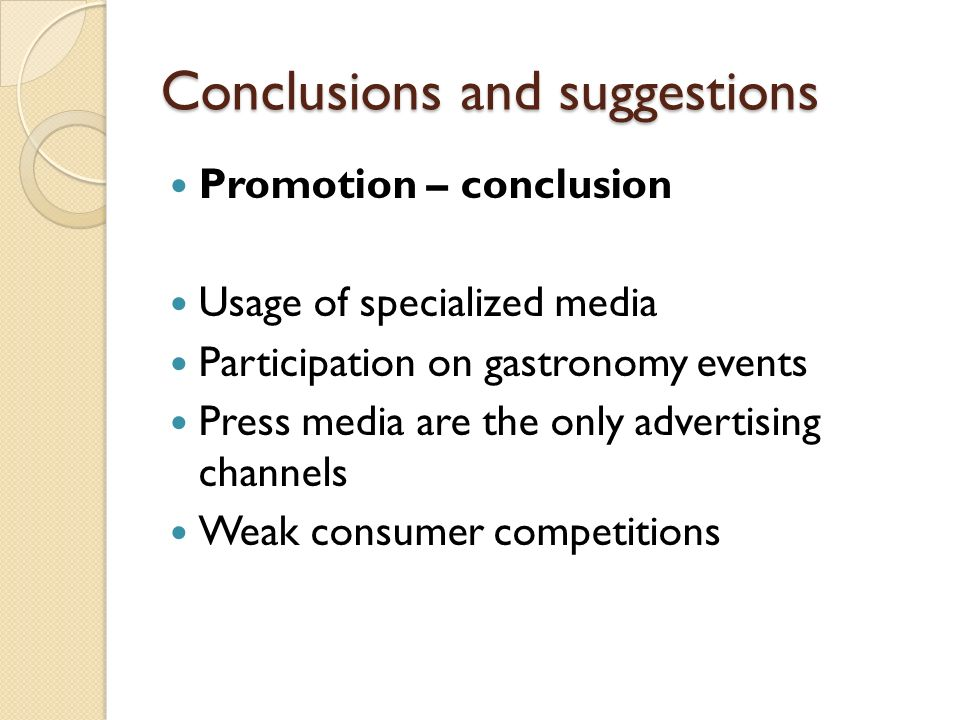 conclusion marketing communication Integrated marketing communication (imc) introduction to imc integrated marketing communications is a term used to describe a holisti.
