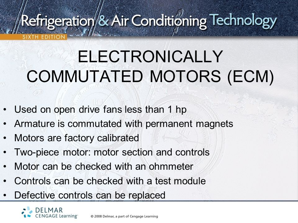 Unit 17 types of electric motors ppt video online download for Electronically commutated motor ecm