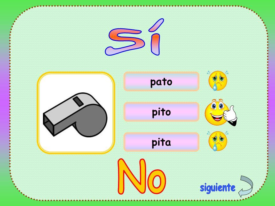 Sí pato pito pita No siguiente