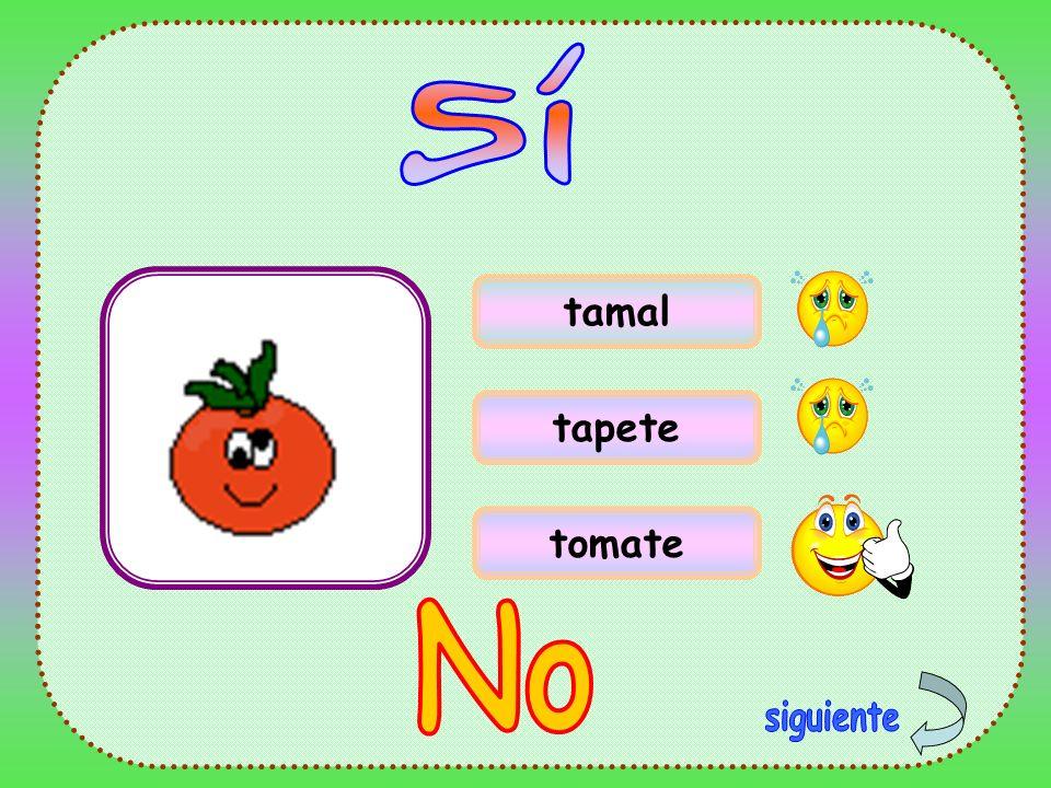 Sí tamal tapete tomate No siguiente