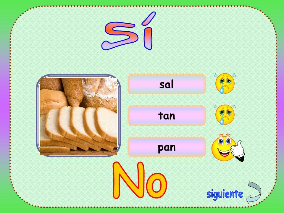 Sí sal tan pan No siguiente