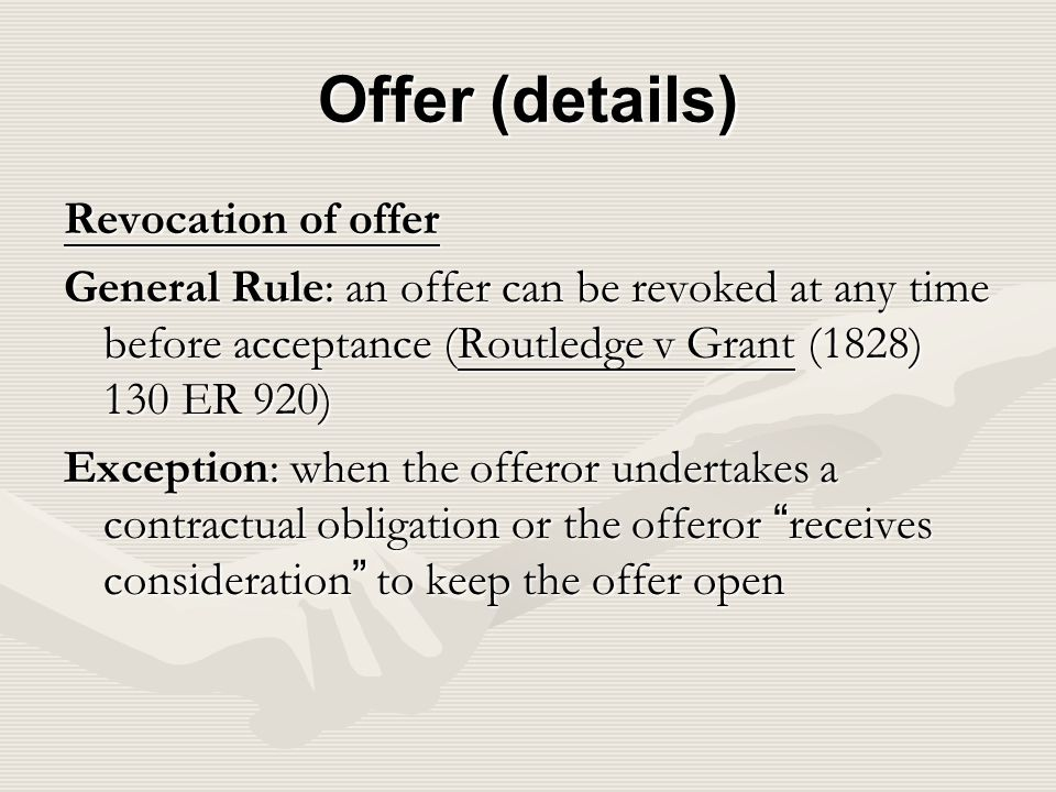 rules of offer and acceptance pdf