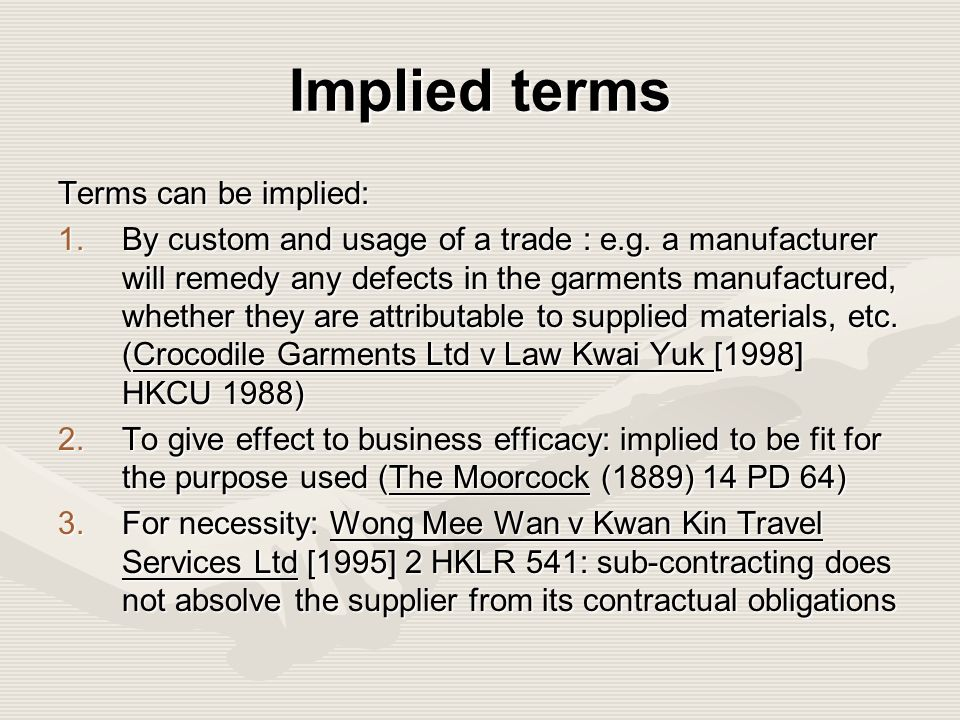 implied terms Implied terms after belize telecom - volume 73 issue 2 - richard hooley.