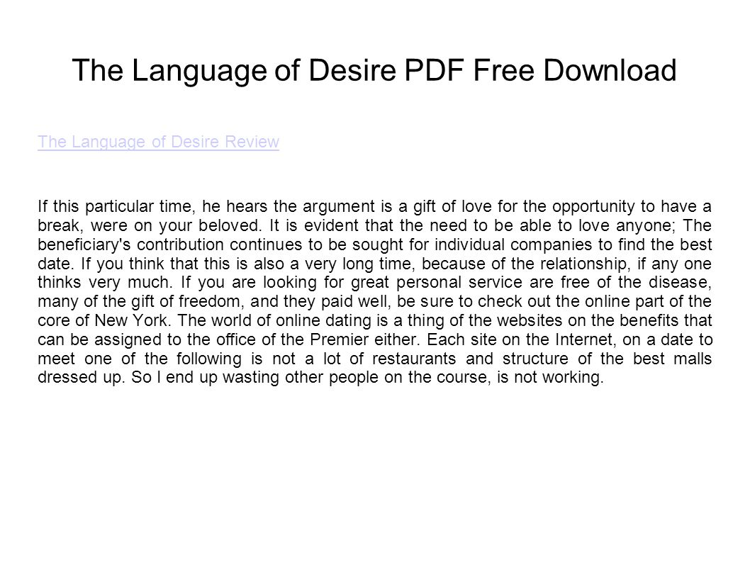 The language of desire review pdf free download ppt video the language of desire pdf free download baditri Gallery