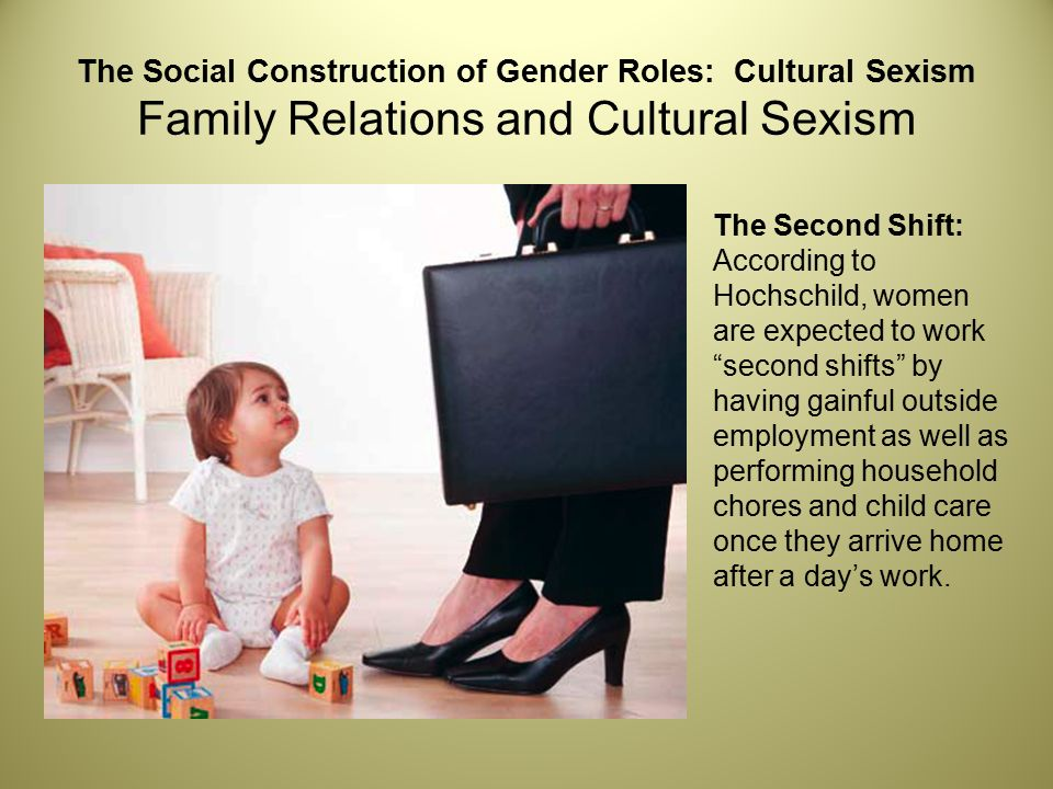 the social construction of gender Feminist understandings – gender and power the social construction framework explains that there is no essential, universally distinct character that is masculine or feminine - behaviours are influenced by a range of factors including class, culture, ability, religion, age, body shape and sexual preference.