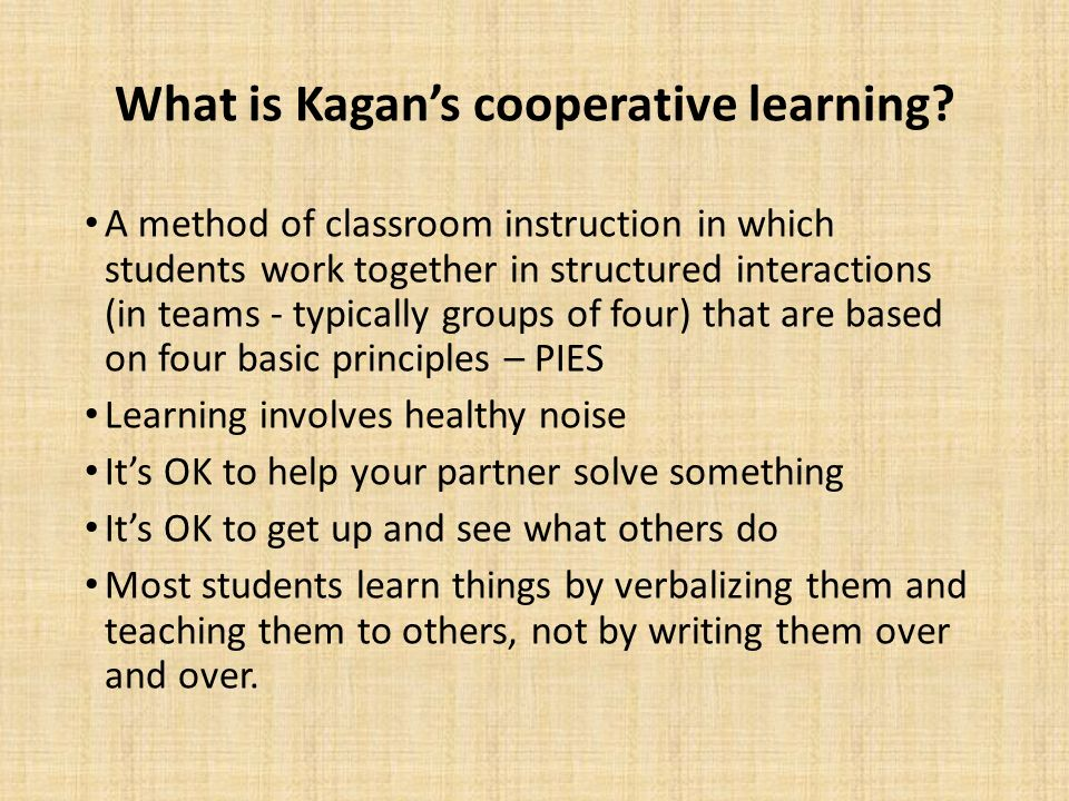 Collaborative Learning In Classroom Interaction : Implementing kagan structures in cooperative learning