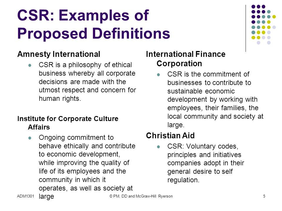 the general principles of corporate social The title corporate social responsibility in general, the conviction that corporations are not only legal entities with responsibilities but also moral entities, and they hold ethical obligations comparable to those of citizens in a society has two meanings first, it's a general name for any theory of the corporation that emphasizes both .