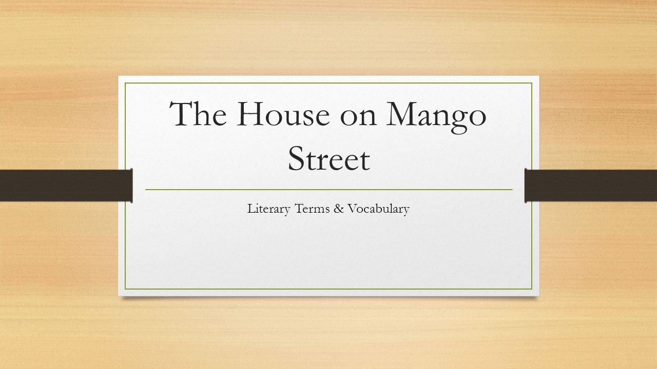 the house on mango street persuasive Starting an essay on sandra cisneros's the house on mango street organize your thoughts and more at our handy-dandy shmoop writing lab.