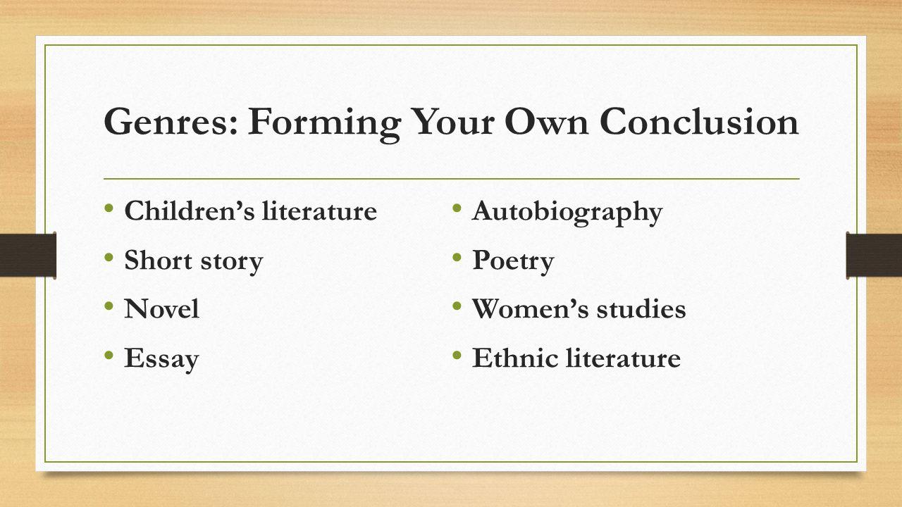 ethnic literature 5 essay