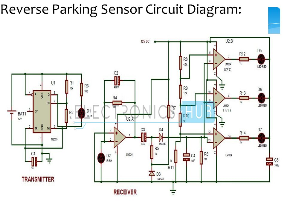 parking sensor circuit ppt