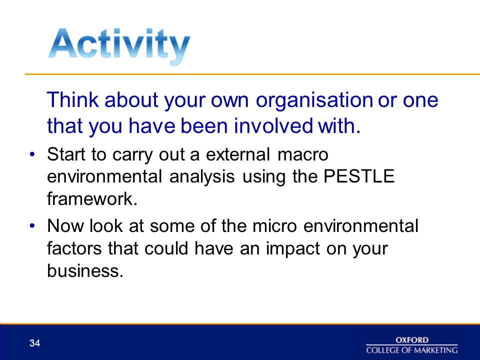 macro environmental analysis using pestle Purpose the pestle analysis allows a manager to acknowledge the crucial macro-economic factors which often can have an impact.