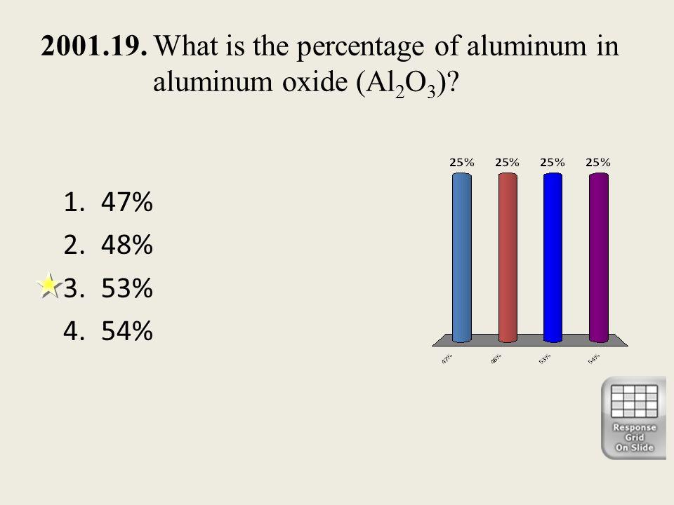 2001.19. What is the percentage of aluminum in aluminum oxide (Al2O3)