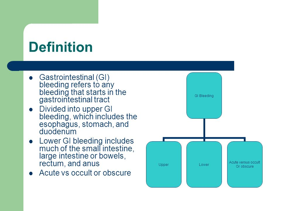 Upper And Lower Gastrointestinal Bleeding Ppt Video