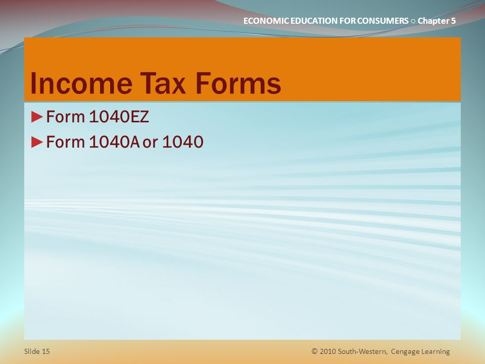 Chapter 5 Taxes How Much Of Your Income Will You Keep Ppt Download
