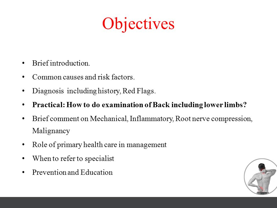 Objectives Brief introduction. Common causes and risk factors.