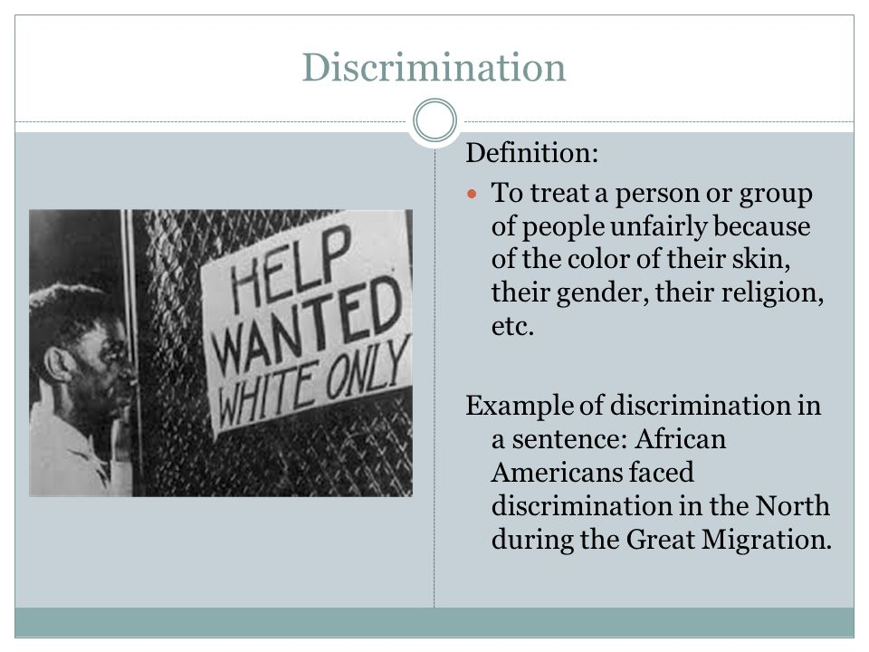 the instances of discrimination in the united states